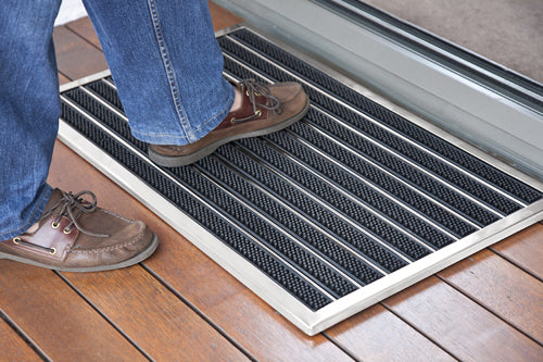 Door Mat Brushed Stainless Steel