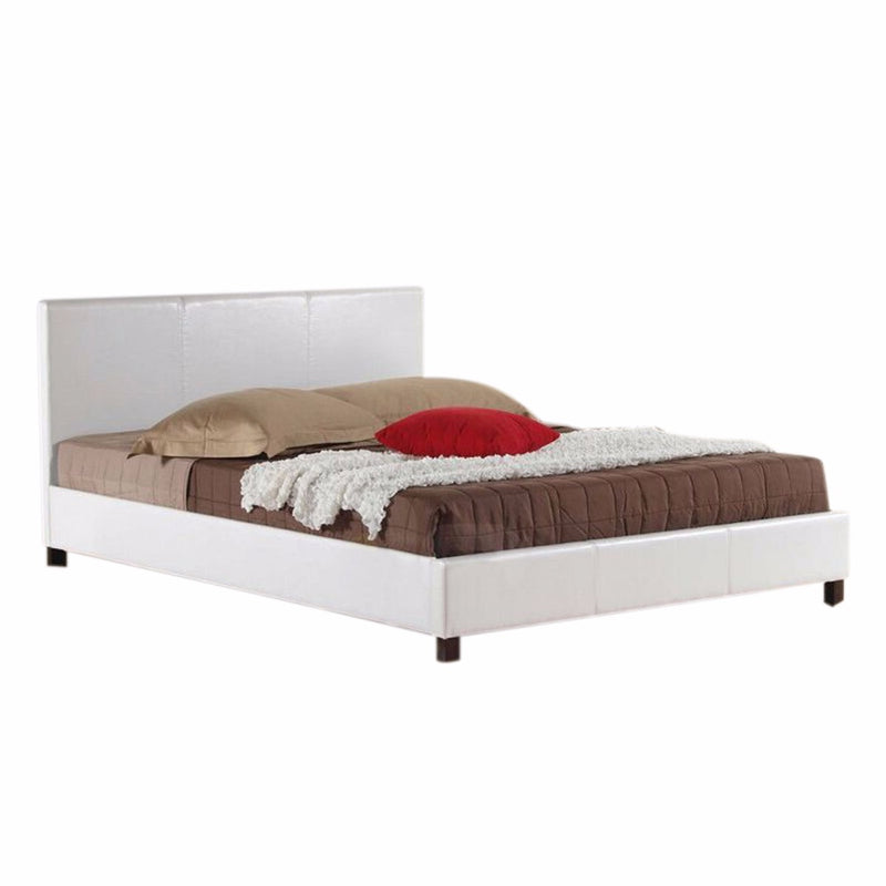 Mondeo PU Leather Double White Bed