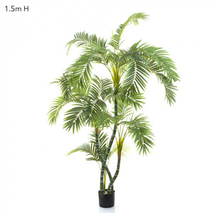 Artificial Parlour Palm Twisted Trunk 1.5m