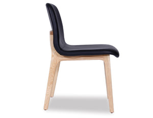 Maxwell Chair - Black Pad - Natural