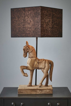 Clyde Base Only - Weather Barn - Large Wooden Horse Table Lamp Base Only