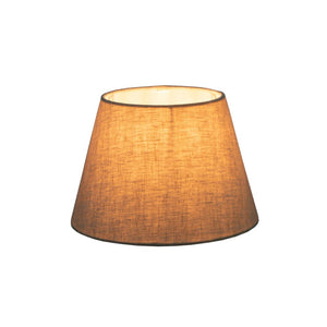 Small Square Lamp Shade  - Textured Ivory - Linen Lamp Shade with E27 Fixture