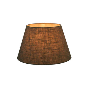 XS Taper Lamp Shade  - Dark Natural Linen - Linen Lamp Shade with E27 Fixture