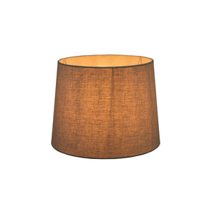 XS Drum Lamp Shade  - Textured Ivory - Linen Lamp Shade with E27 Fixture