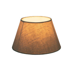 Small Taper Lamp Shade - Light Natural Linen - Linen Lamp Shade with E27 Fixture