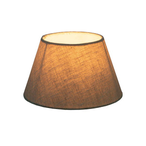 XXS Taper Lamp Shade  - Light Natural Linen - Linen Lamp Shade with E27 Fixture