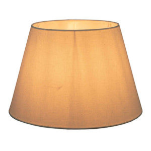 XL Taper Lamp Shade - Textured Ivory - Linen Lamp Shade with E27 Fixture