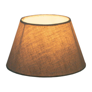 Large Taper Lamp Shade  - Light Natural Linen - Linen Lamp Shade with E27 Fixture