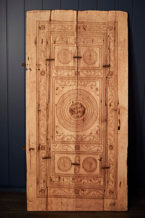 Wooden Hand Carved Buster Door Brown
