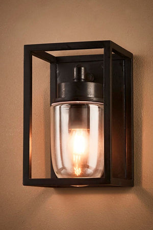 Wellington Wall Lamp Outdoor Black