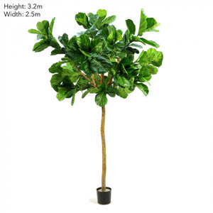 Artificial 2.7m Fiddle Leaf Giant Tree w 200 Leaves