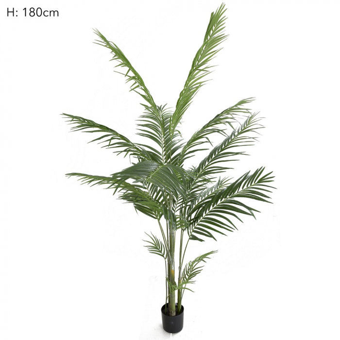 Artificial potted areca palm 593 lvs 183cm - House of Isabella AU