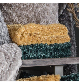 Woodlander Faux Fur Throw Teal