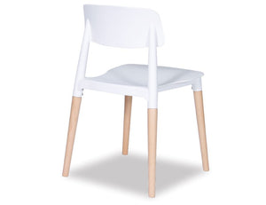 Lecco Chair - Natural - White