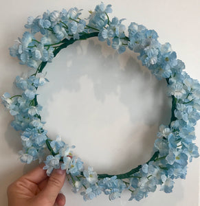 something blue flower crown