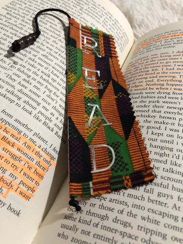 african kente handmade bookmark