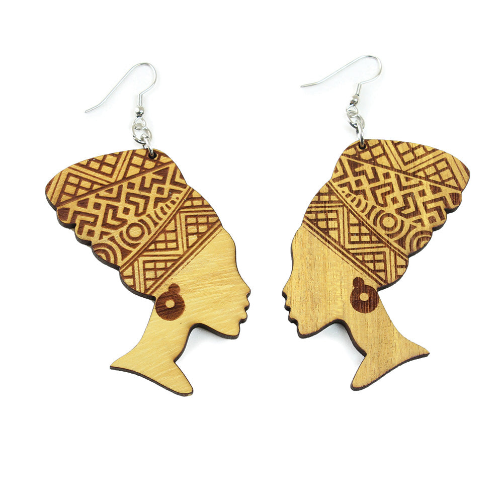 Wooden Mama Africa Earrings