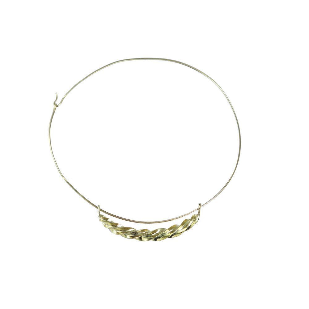 Fulani Gold Twist Choker