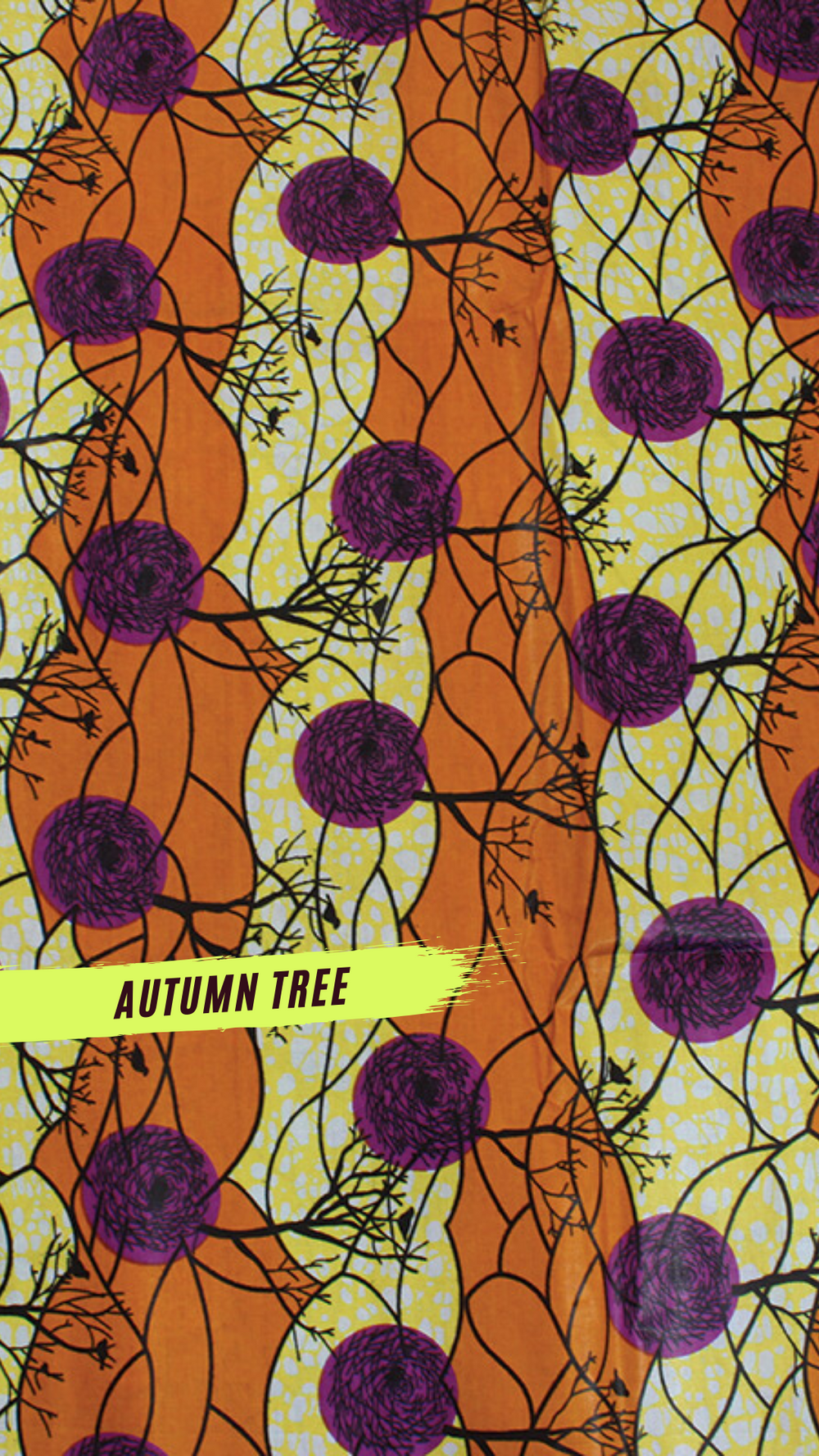 Autumn Tree African Print Headwrap