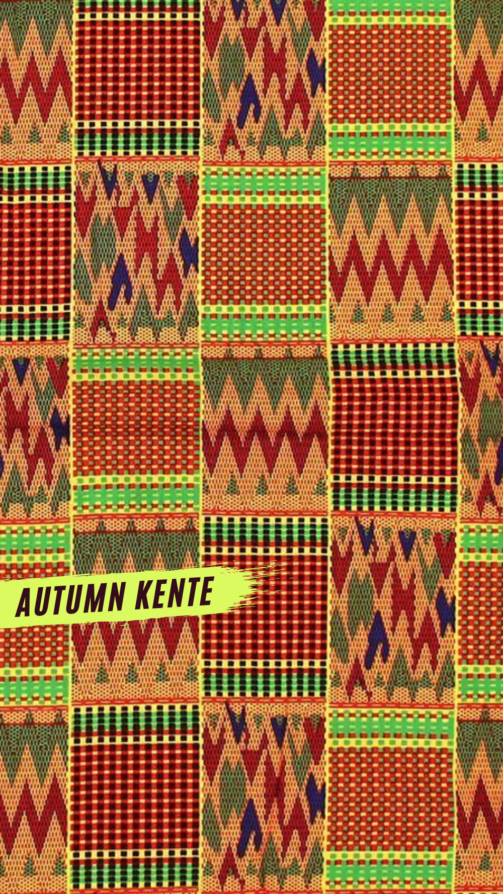 Autumn Kente African Print Headwrap
