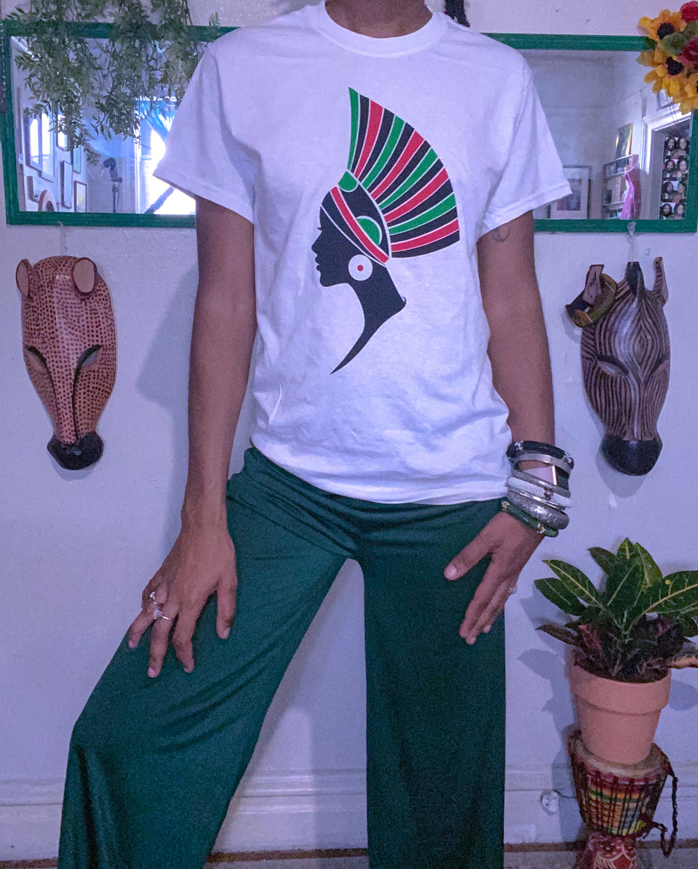 African Head Piece T-Shirt