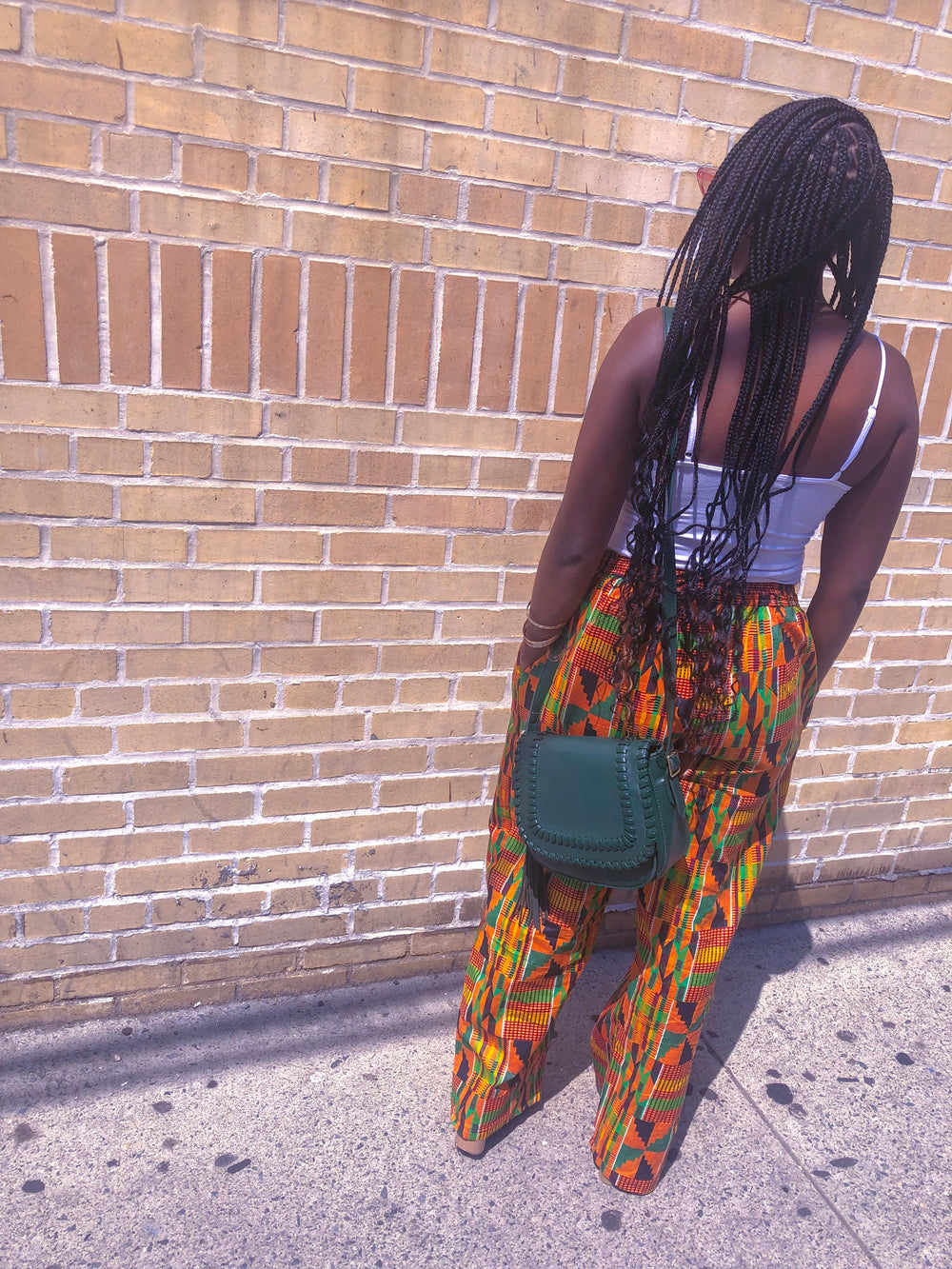 Unisex Two Pocket Drawstring African Kente Pants