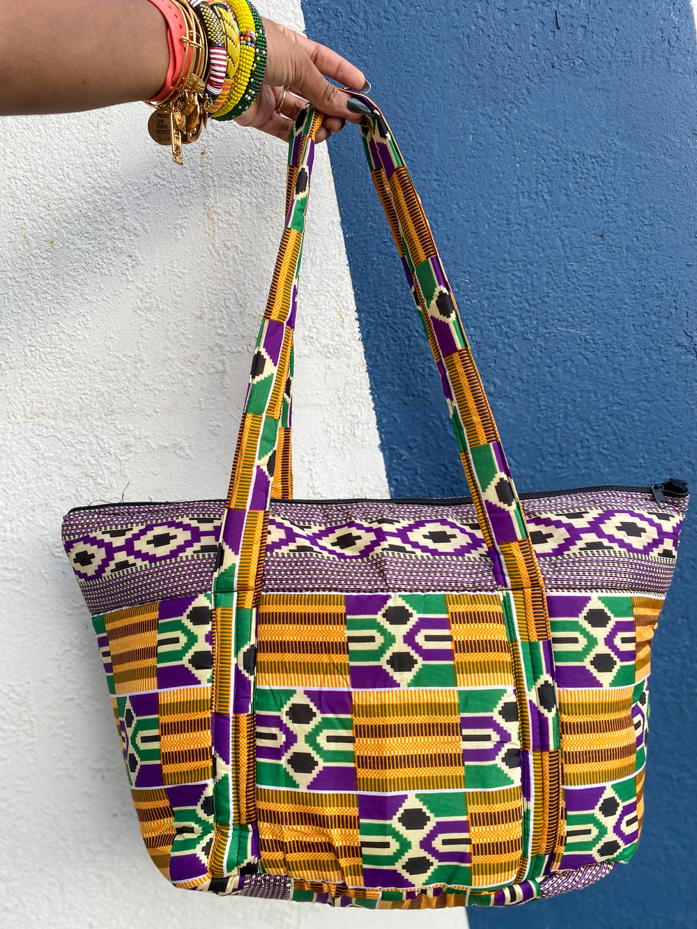 African Print Overnight Travel Bag (Made in Gambia 🇬🇲)