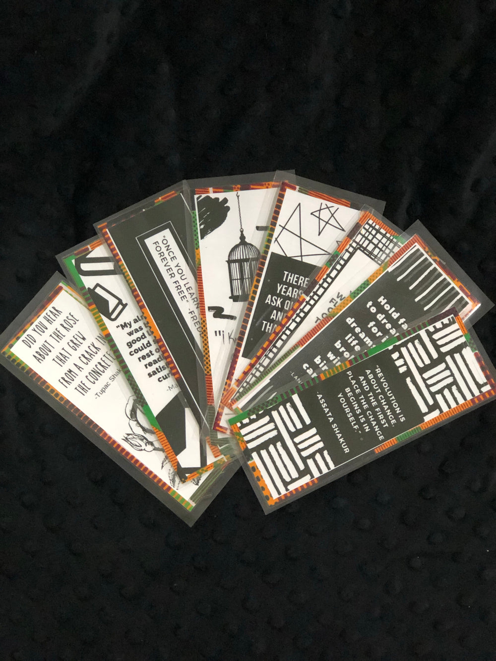 Black Excellence Quote Bookmarks