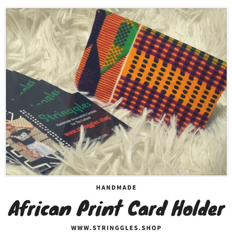 African Print Fabric Card Holder