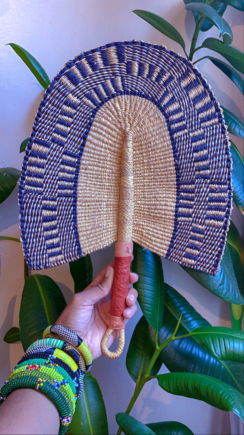 Burkina Faso Hand Woven Fan (Made in Burkina Faso 🇧🇫)