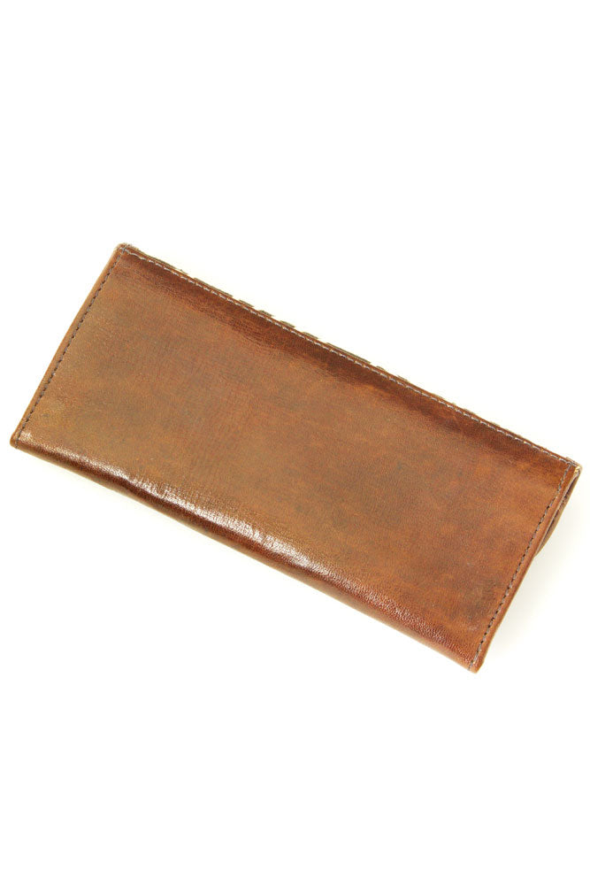 Mudcloth & Leather Trifold Wallet (Made in Mali 🇲🇱)