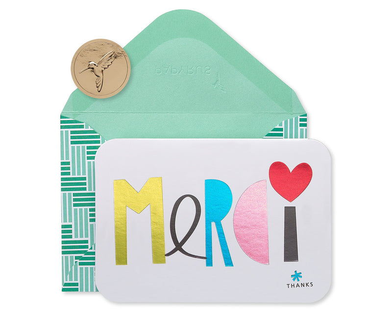 Papyrus Merci Thank You Boxed Cards