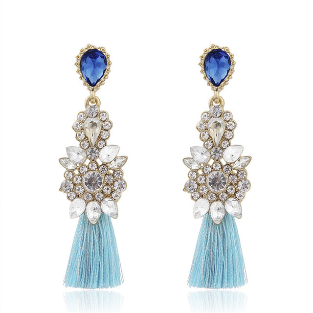 Daniella Crystal Drop Earrings