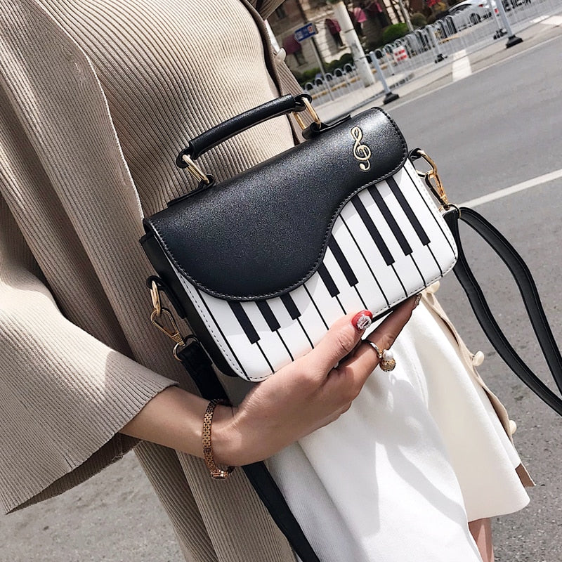 Piano Style Crossbody Purse