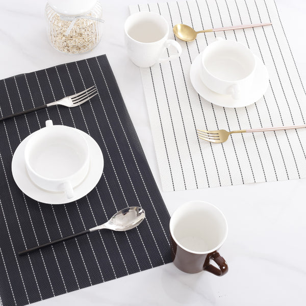 Black and White Affair Table Linens