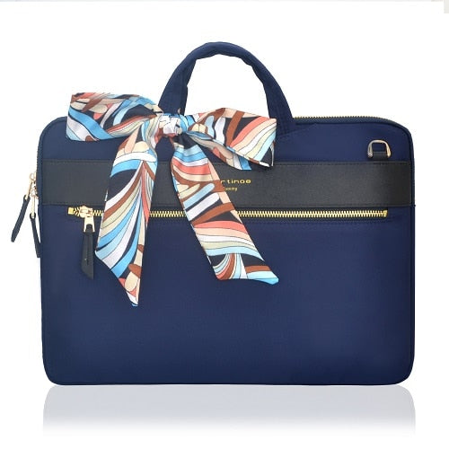The London Laptop Messenger Bag - Blue