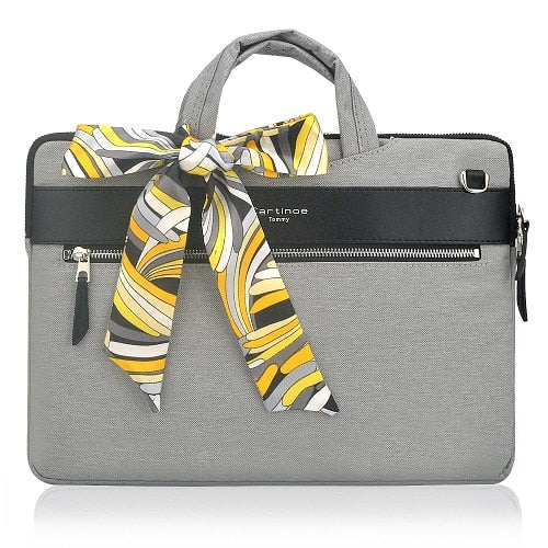 The London Laptop Messenger Bag - Gray