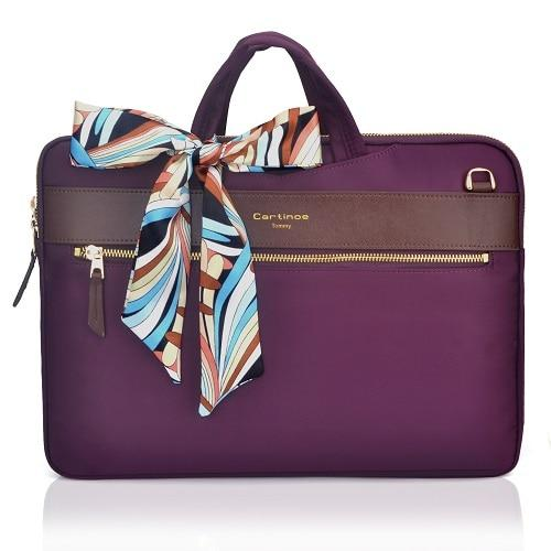 The London Laptop Messenger Bag - Purple