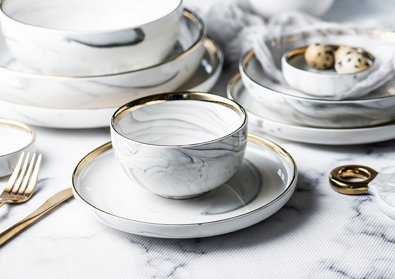 Terrica Marble Dinnerware Collection