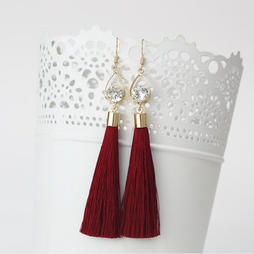 Cora Rhinestone Drop Earrings