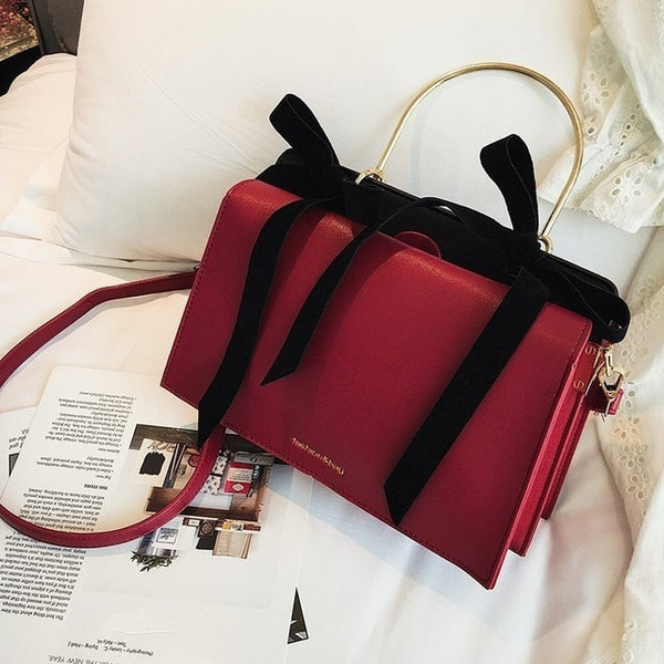 Olivia Ribbon Handbag - Red