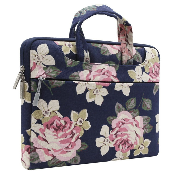 The Charlotte Laptop Case - Rose Blue
