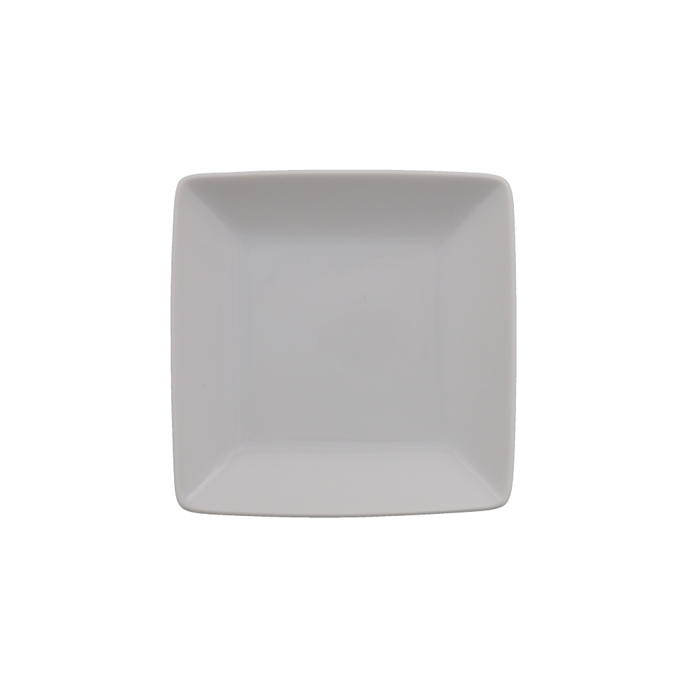 Small White Square Plate Set of 4