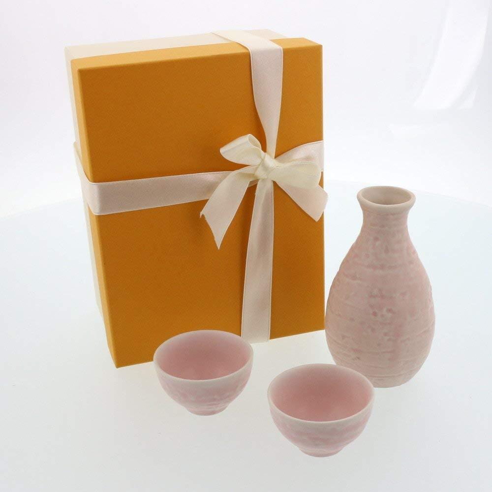 Sakura Sake Gift Set - Sake Bottle and 2 Sake Cups