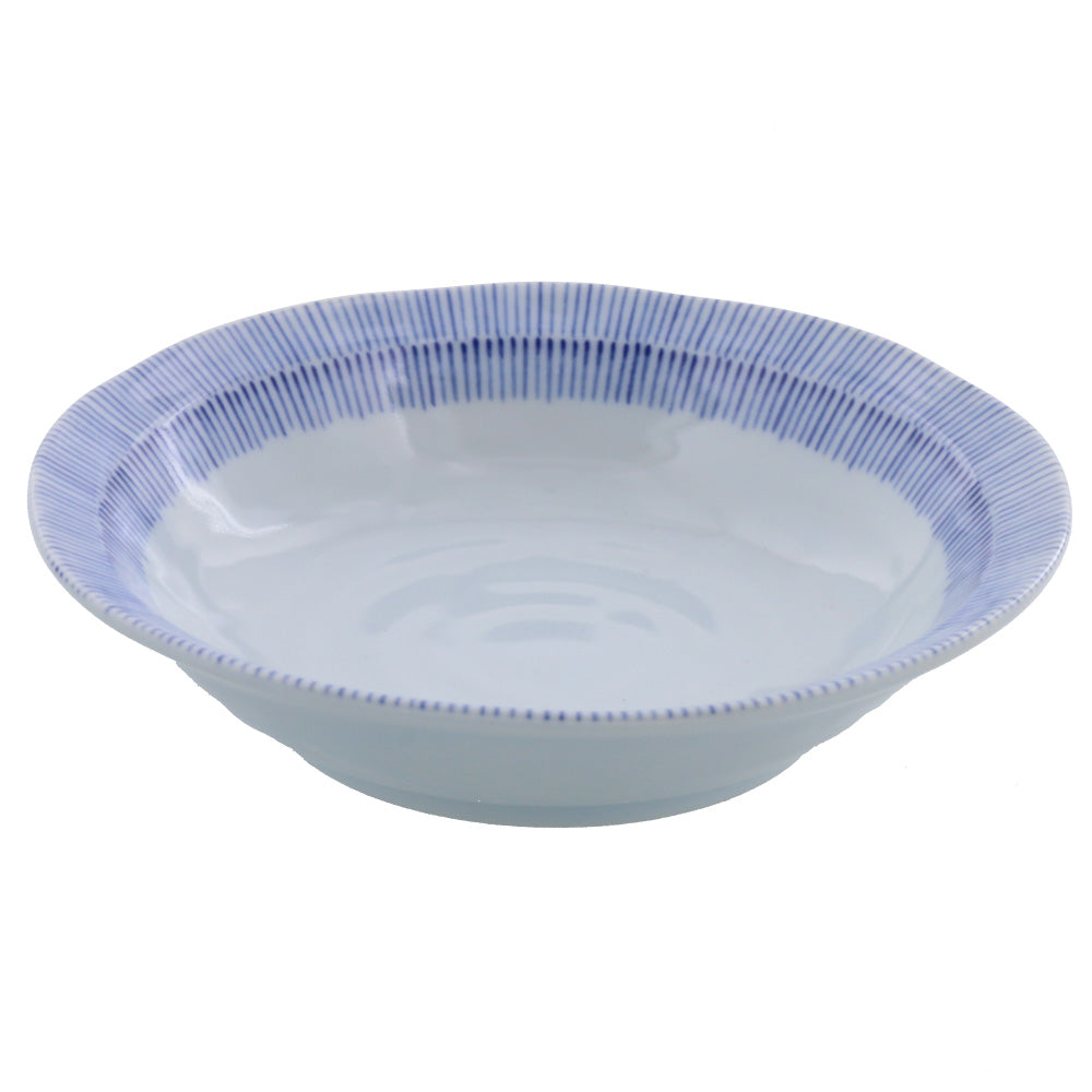 "6.5"" Tokusa Bowl Set of 4 - Blue and White"