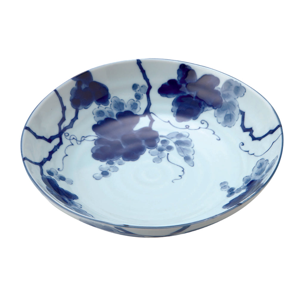 Sometsuke Blue and White Multi-Purpose Bowl Made in Japan - Grape