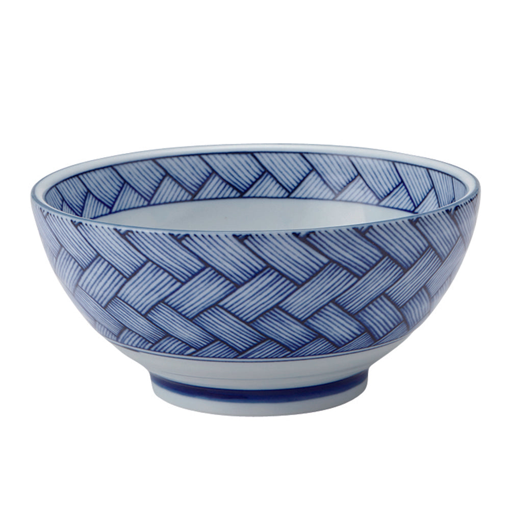 Large 40 oz Ramen, Donburi SANUKI Bowl Traditional Pattern (Ajiro-Pattern)