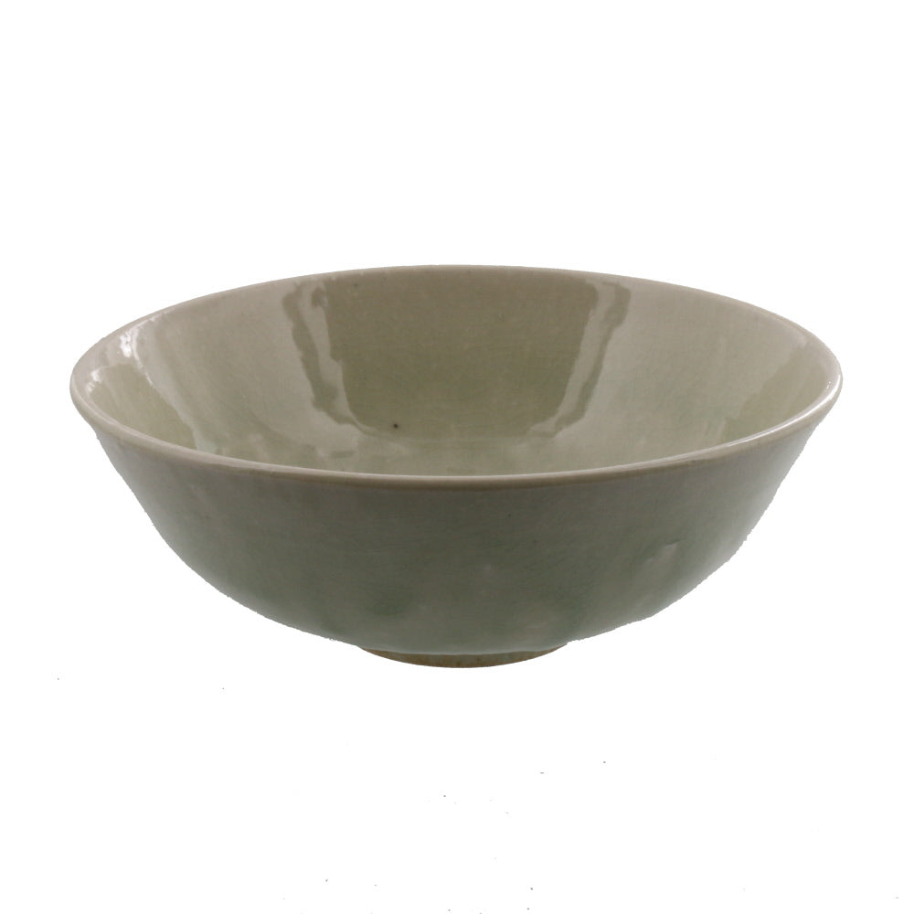 Authentic 15 oz Pottery Matcha Tea Cup with Wide Mouth Gray Penetration (Cracking Like Crystals)  Handmade Comes in a Box