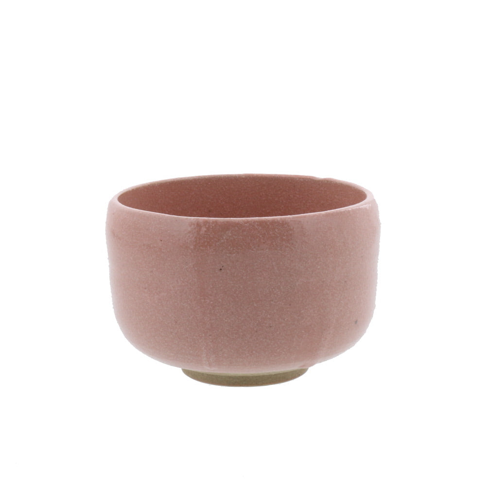 Authentic 14.5 oz Pottery Matcha Tea Cup Small Pink Handmade Comes in a Box