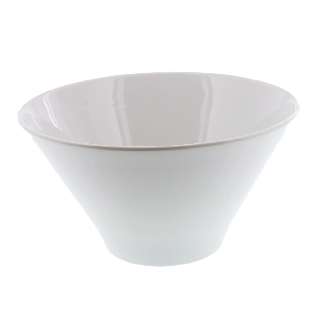 44 oz White Trapezoid Bowl - Medium